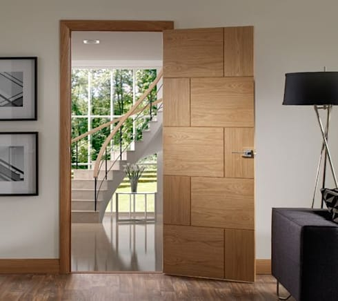 Ravenna Oak Internal Door Prefinished:  Windows & doors  by Modern Doors Ltd