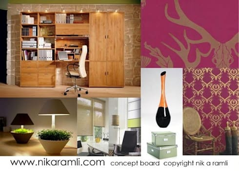 Mood Board:  Offices & stores by Nik A Ramli Interior Design