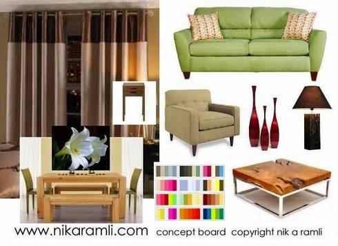 Mood Board: modern Dining room by Nik A Ramli Interior Design