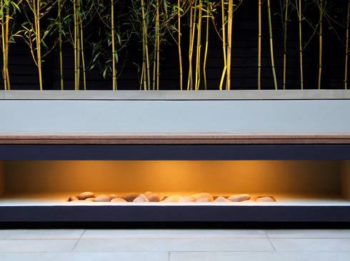 Aperture bench: modern Garden by MyLandscapes Garden Design