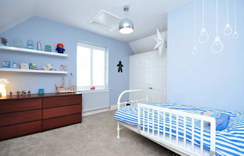 Little Boys Bedroom: modern Nursery/kid's room by Lime Lace Eclectic Interiors