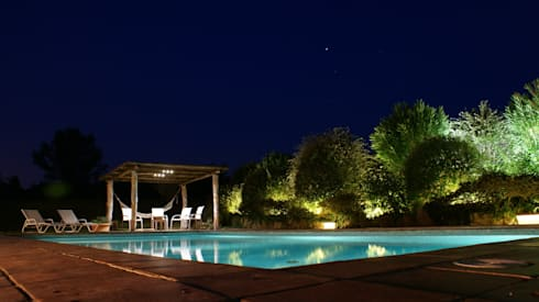 iluminacin piscina y jardn jardines de estilo rstico de outside bcn led lighting
