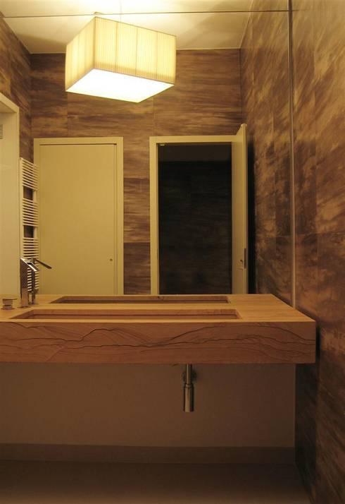 bagno: Spa in stile in stile Moderno di studiooxi