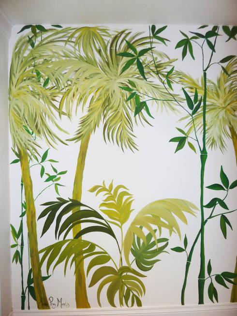 Birmingham Botanical Gardens—Feature Entrance Mural:  Corridor & hallway by Joanna Perry Murals