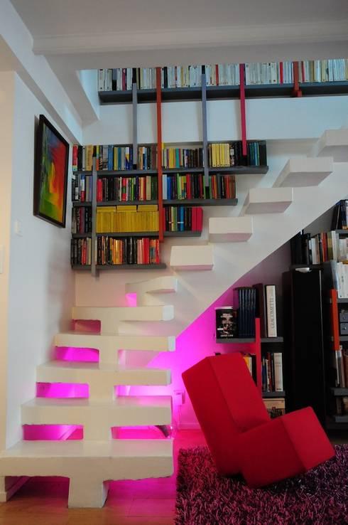 UN DUPLEX À LIVRE OUVERT: Terrasse de style  par Tony Lemâle Intérieurs