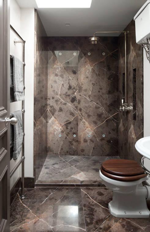 Gilston Road, Mendip shower room: modern Bathroom by Britannicus Stone