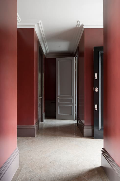 Gilston Road, Swaledale Brown Fossil  hallway:  Corridor & hallway by Britannicus Stone