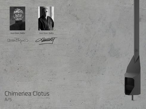 Chimenea Mod. CLOTUS: Salones de estilo mediterráneo de DAE chimeneas
