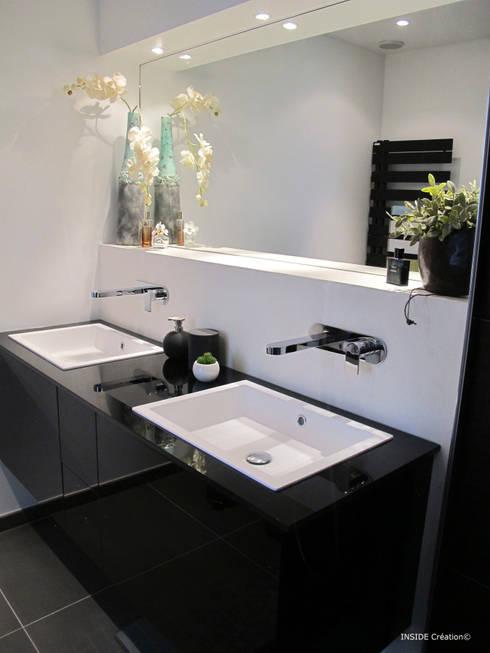 Salle de bain design: Salle de bains de style  par INSIDE Création