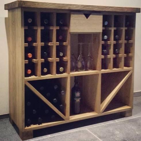 Wine rack: rustic Kitchen by Edinburgh Contractor Ltd