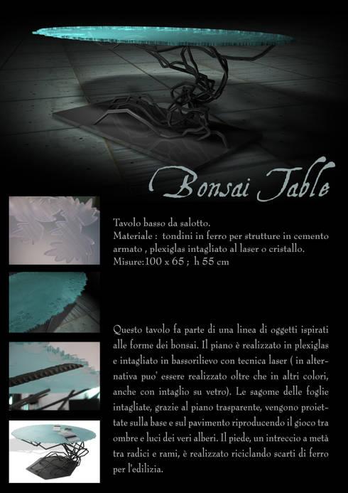 Bonsai table: Soggiorno in stile in stile Eclettico di Serena Fanara