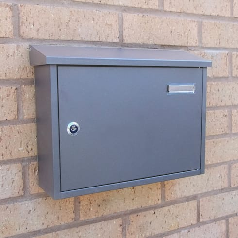Taylor Grey Letterbox:  Household by The House Nameplate Company