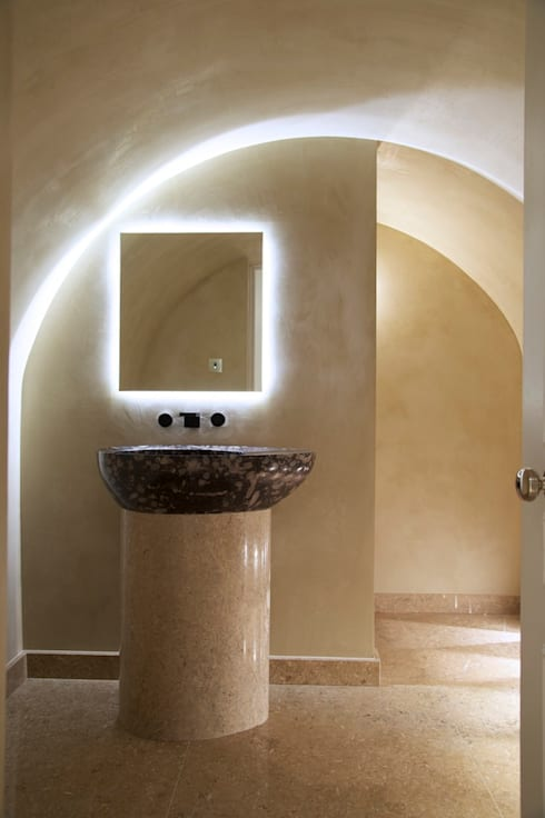 Brooke Street, Frosterley basin: modern Bathroom by Britannicus Stone