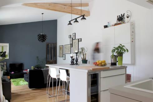 Maison mdrd par biens r architecture homify for Deco piece a vivre avec cuisine ouverte