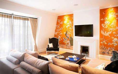 Kensington: eclectic Living room by Matteo Bianchi Studio