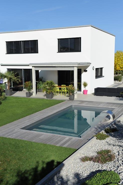 Piscines contemporaines par piscinelle homify for Piscines contemporaines