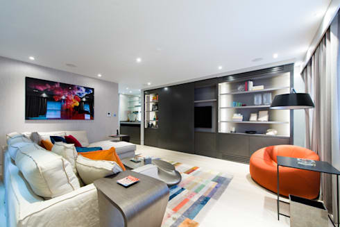 Modern Mayfair livingroom: modern Living room by Harriet Forde Design