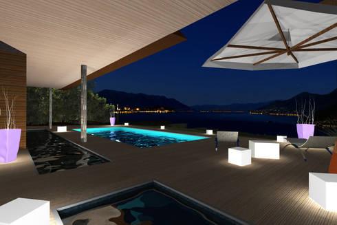 Terrace View: Case in stile in stile Moderno di STUDIO RANDETTI - PROGETTAZIONE E DESIGN