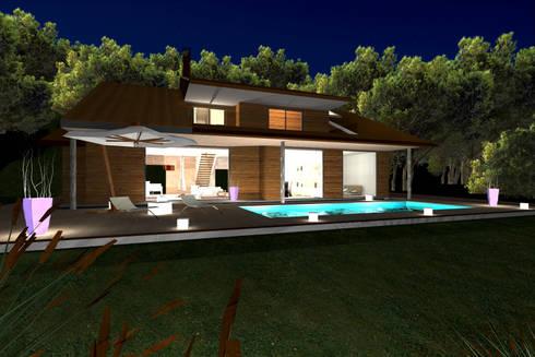 Lake Maggiore Home: Case in stile in stile Moderno di STUDIO RANDETTI - PROGETTAZIONE E DESIGN