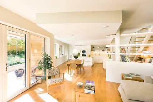 Cheltenham Passivhaus: modern Living room by Seymour-Smith Architects