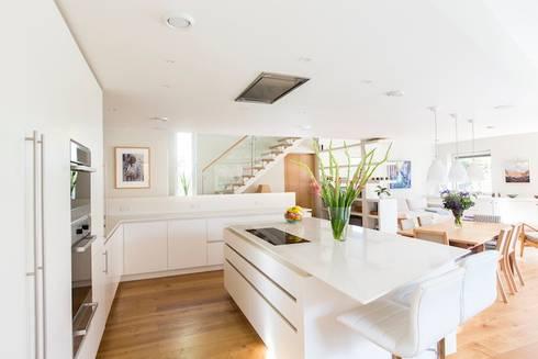 Cheltenham Passivhaus: modern Kitchen by Seymour-Smith Architects