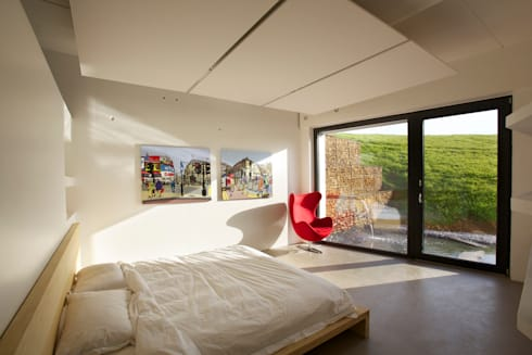 Underhill House PPS7: modern Bedroom by Seymour-Smith Architects