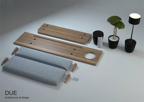 Producto desmontado y complementos:  de estilo  de DUE Architecture & Design