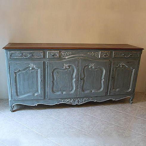 Credenza Francese in stile Luigi XV decorata e rifinita a mano di ...