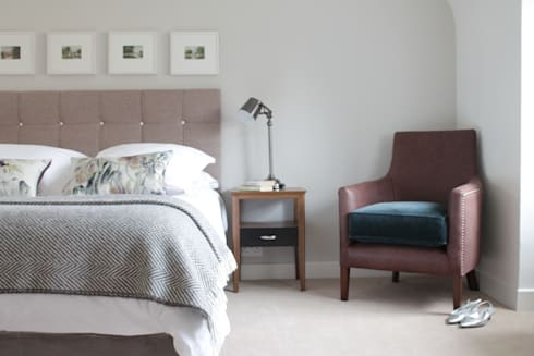 The Hepworth Luxury Upholstered Bed: eclectic Bedroom by TurnPost