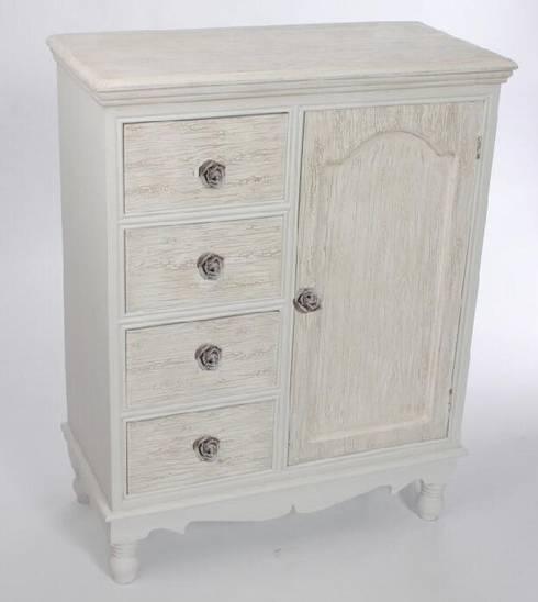 Mueble auxiliar de estilo r stico rom ntico provenzal de - Muebles estilo rustico ...