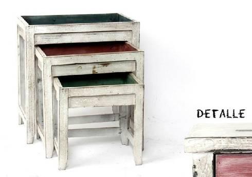 Mueble auxiliar de estilo r stico rom ntico provenzal di for Mueble auxiliar rustico