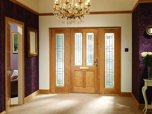 Malton Diamond Double Side Panel Door Set:  Windows & doors  by Modern Doors Ltd