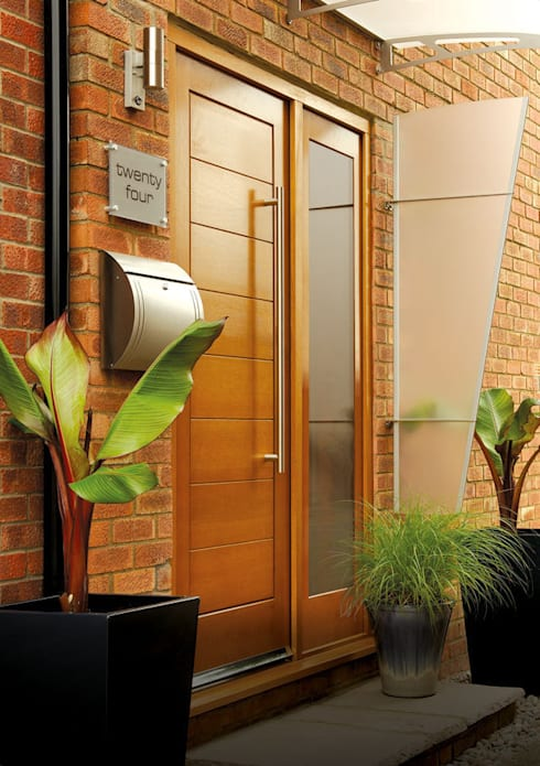 Modena Oak Side Panel Door Set:  Windows & doors  by Modern Doors Ltd