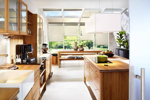 Annex Modulküche Mit Kochinsel Aus Massivholz