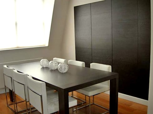 PROJECT: A 2-bed apartment in Bayswater. : modern Dining room by Anna Hansson Design