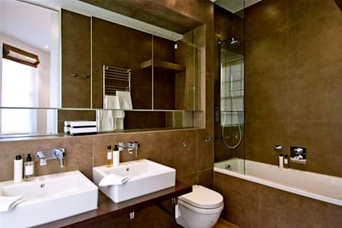 PROJECT: Penthouse in London's West-End.: modern Bathroom by Anna Hansson Design
