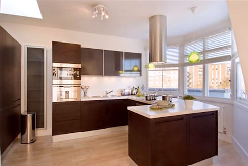 PROJECT: Penthouse in London's West-End.: modern Kitchen by Anna Hansson Design