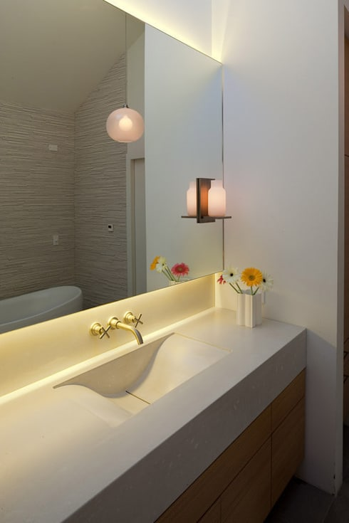 Old Coronet Projects: modern Bathroom by Coronet Lighting Ltd