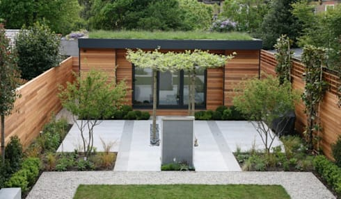 Lyford Road: modern Garden by eDEN Garden Rooms Ltd