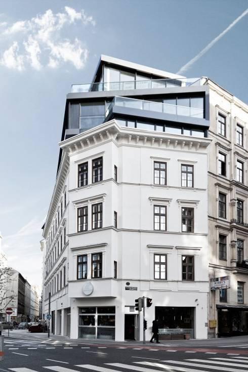 MG9 - Sanierung und Aufstockung Margaretenstraße 9:  Häuser von Josef Weichenberger architects + Partner