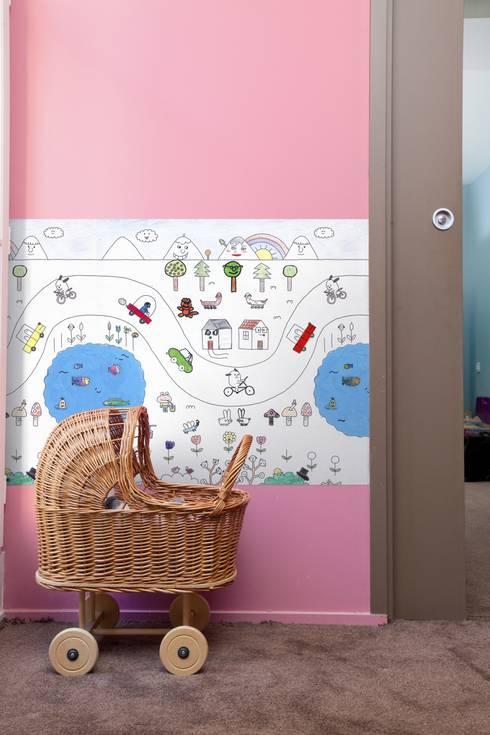 On the Road. Papel para dibujar y colorear: Habitaciones infantiles de estilo  de Desdelfaro S.L.
