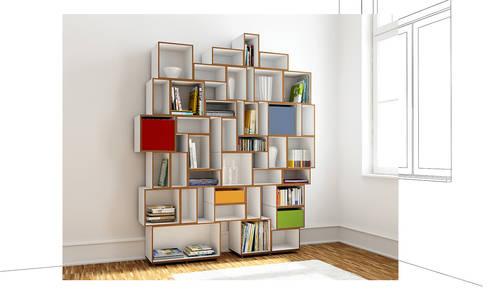 Ausgefallene Bücherregale modulare bücherregale stocubo das modulare regalsystem homify