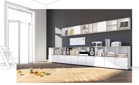 Sideboard Mit Wandregal: Moderne Wohnzimmer Von Stocubo   Das Modulare  Regalsystem
