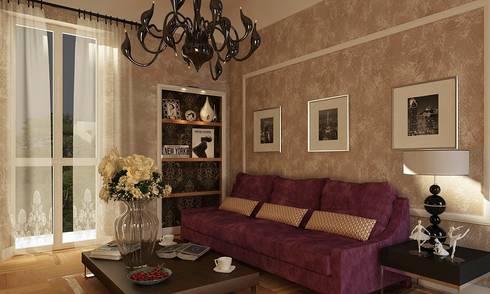 Frazionamento appartamento da 157 mq, trasformati in due unità da 107 e 50 mq. : Case in stile in stile Eclettico di GF Studio Design