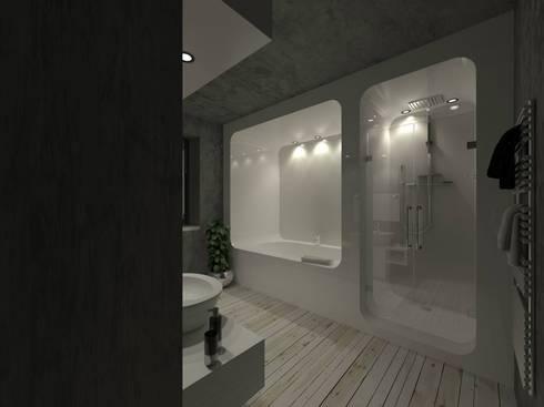 Timotha House: Bagno in stile in stile Eclettico di GF Studio Design