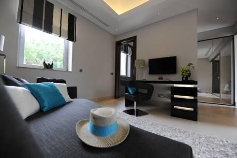 Quinta do Lago: modern Bedroom by Cheryl Tarbuck Design