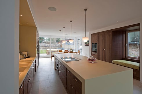 New villa in West Edinburgh - Kitchen: modern Houses by ZONE Architects