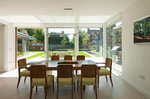 New villa in West Edinburgh - Dining Room: modern Houses by ZONE Architects