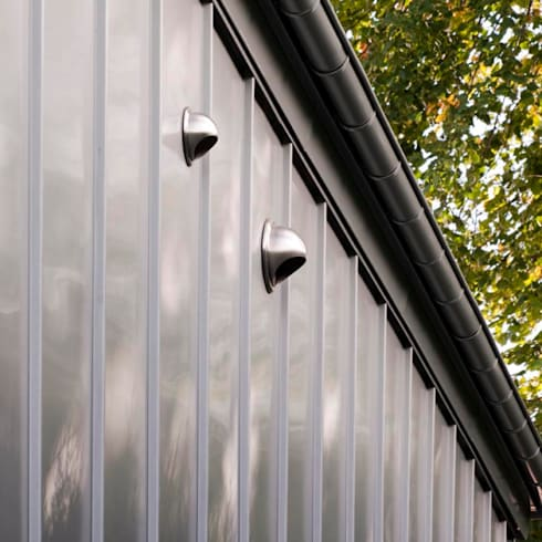 South Queensferry - zinc detail: modern Houses by ZONE Architects