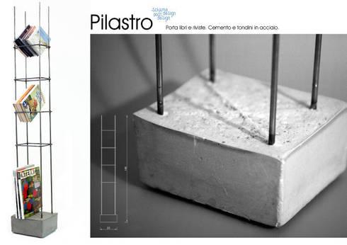 Pilastro: Soggiorno in stile in stile Eclettico di SCHIUMA POST DESIGN